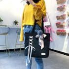 Lace-up Canvas Tote