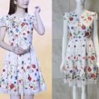 Short-sleeve Embroidery Lace Dress