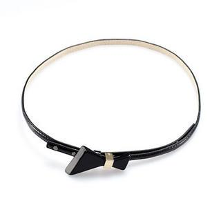Bow-accent Slim Belt