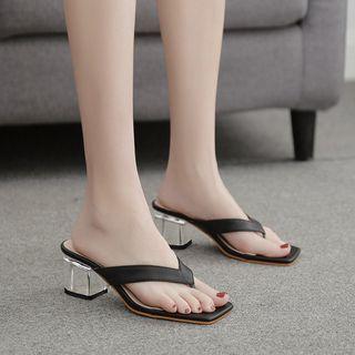 Chunky-heel Flip-flops