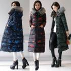 Camo Padded Long Coat