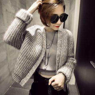 Loose-fit Cropped Cardigan