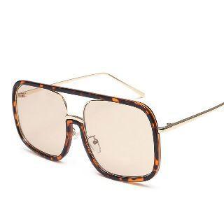 Double-bridge Square Sunglasses