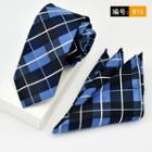 Set: Plaid Tie + Pocket Square
