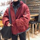 Fleece Hooded Padded Jacket