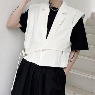 Belted Cropped Vest