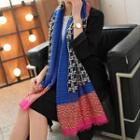 Houndstooth Patterned Scarf