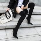 Pointed Kitten-heel Over-the-knee Boots