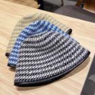Houndstooth Cloche Hat