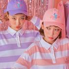Pink Cafe Ribbon Cotton Baseball Cap