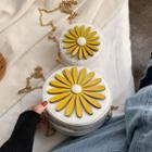 Round Flower Crossbody Bag