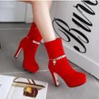 Rhinestone Heel Boots