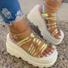 Transparent Wedge Platform Sandals