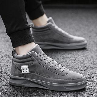 Smiley Face High Top Sneakers
