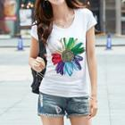 Short-sleeve Flower T-shirt