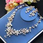 Set: Freshwater Pearl Necklace + Earring