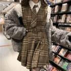 Shirt / Plaid Sleeveless Dress