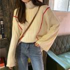 Turtleneck Sweater Light Yellow - One Size