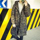 Hooded Camo Long Jacket