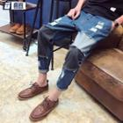 Panel Distressed Jeans