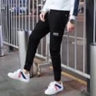 Label Applique Skinny Pants