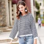 Long-sleeve Striped Hoodie