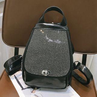 Studded Twist Lock Mini Backpack