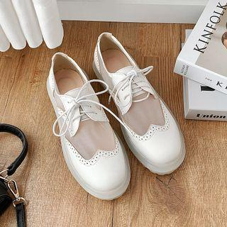 Mesh Panel Oxford Shoes