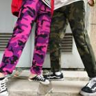 Couple Matching Camouflage Straight Cut Pants