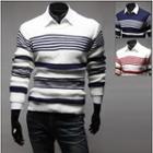 Wool Blend Stripe Knit Top