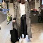 Plaid Single-buttoned Coat