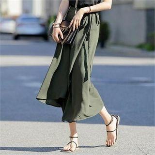 Maxi Surplice-wrap Skirt