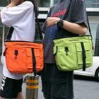 Buckled Lettering Crossbody Bag
