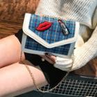 Plaid Envelope Crossbody Bag