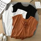 Cap-sleeve Knot Front Top