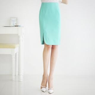 Slit-side Pencil Skirt
