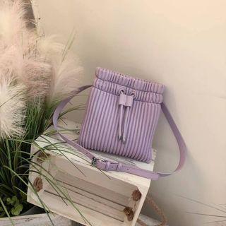 Plain Drawstring Cross Bag