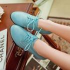 Chunky-heel Oxford Shoes
