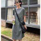 Convertible Plain T-shirt Dress