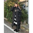 Hooded Extra-long Puffer Coat