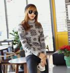 Turtleneck Patterned Sweater