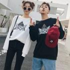 Couple Matching Cat Printed Pullover