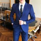 Set: Single Breasted Blazer + Vest + Dress Pants