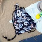 Floral Printed Drawstring Backpack