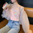 Chiffon Jacket / Sequined Camisole Top