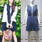 Blouse / Sleeveless Denim Dress