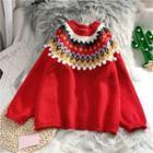 Pom Pom Patterned Sweater