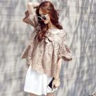 Short-sleeve Lace Cut Out Top