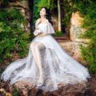 Off-shoulder Maxi Lace Dress
