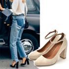 Genuine Leather High-heel Pumps
